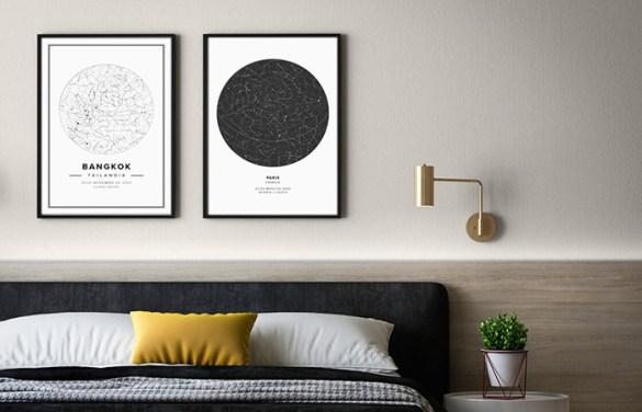 posters mapas estelares y geograficos