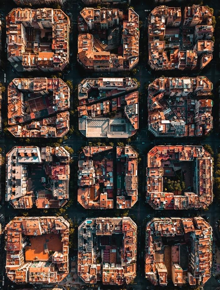 foto aerea orden barcelona calles