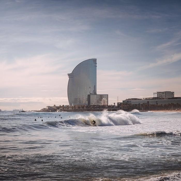 playa mar edificio barcelona