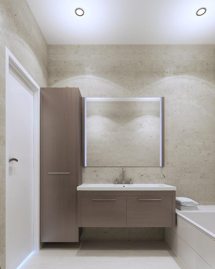 baño madera color taupe