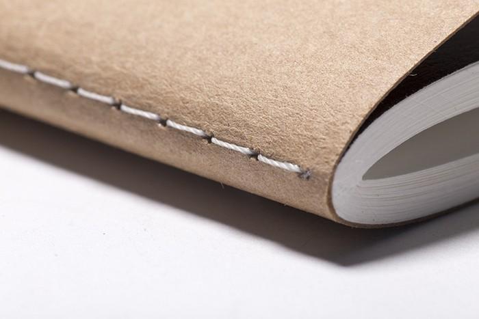 canto de cuaderno con hilo