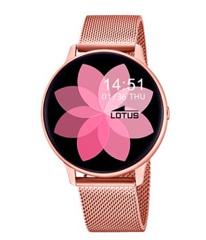 reloj para mujer de Lotus con correa de malla rosa