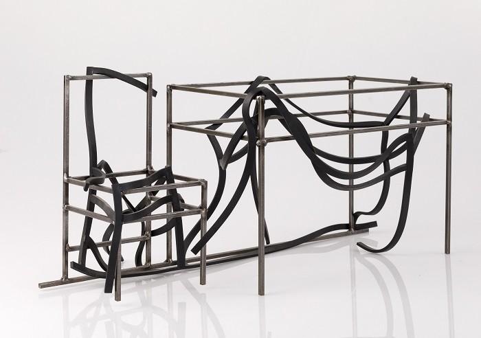 Conjunto de mesa y silla extravagantes
