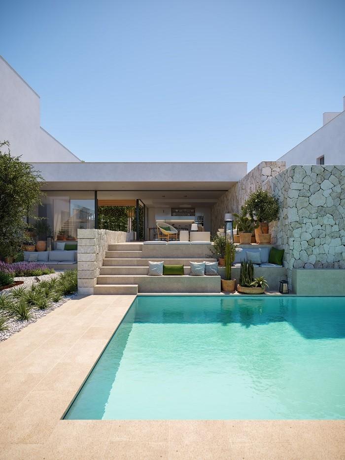 piscina en the white angel en Ibiza