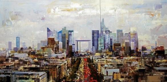 pintura de París expresionista y abstracta por Urréjola