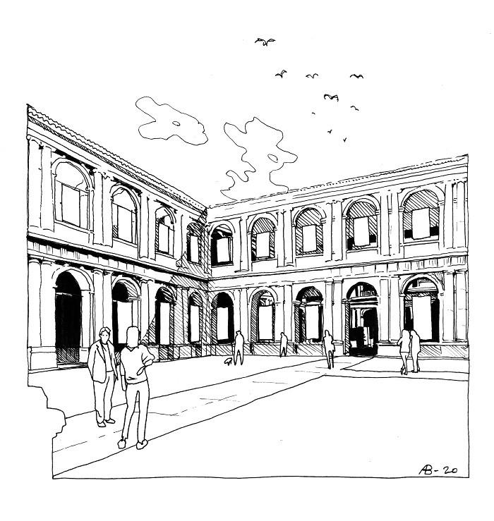 ilustración del Patio Herreriano