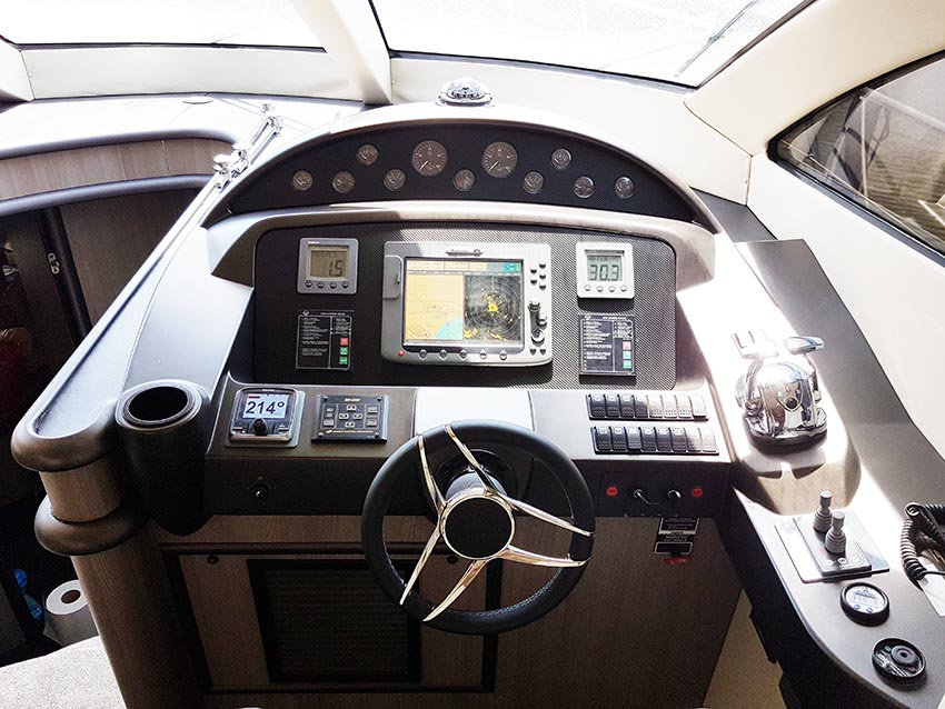 Yacht instrument panels transformed using carbon fibre vinyl and technical finishes.
