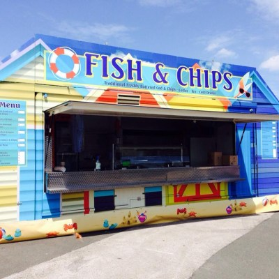 event catering unit, festival signs, catering graphics, signwriting, wrapping