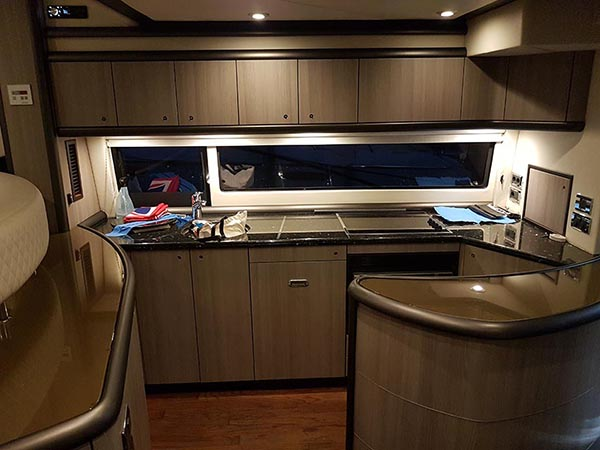 Sunseeker Yacht Interior After Wrapping