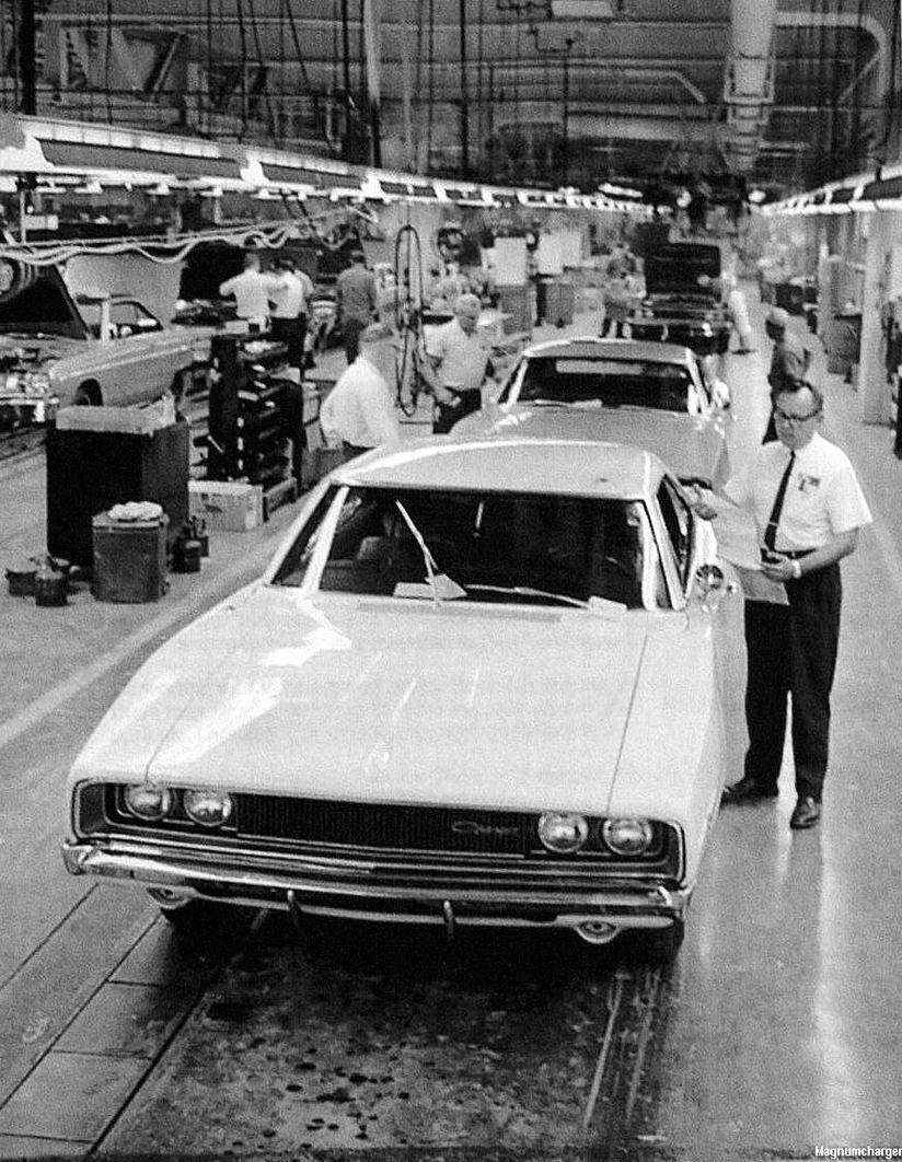 1968 Dodge Charger On The Hamtramck Assembly Line Mopar Blog