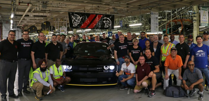 The Last 2018 Dodge Challenger SRT Demon at Brampton Assembly Plant. (FCA US Photo)