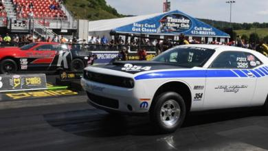 Photo of Supercharged Dodge Challenger Drag Pak Crashes At NMCA/NMRA Super Bowl: