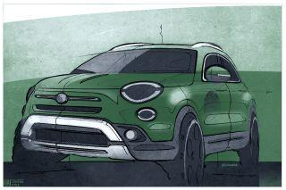 2019 FIAT 500X Design Sketch. (FIAT Italia).