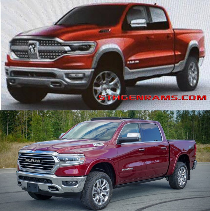 what the 2019 ram 1500 grille was originally going to look like moparinsiders what the 2019 ram 1500 grille was