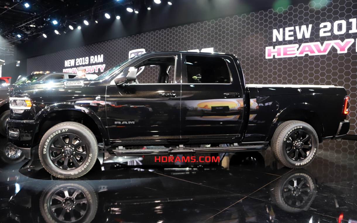 2019 ram 2500 laramie black crew cab 4 4 hdrams the night appearance package