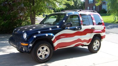 "Photo of The ""Patriotic"" Jeep Liberty Limited That Was Part Of Jeep Post 9/11 History:"