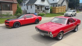 Dave Hayes' 2018 Dodge Challenger SRT Demon and AMC AMX. (Dave Hayes).