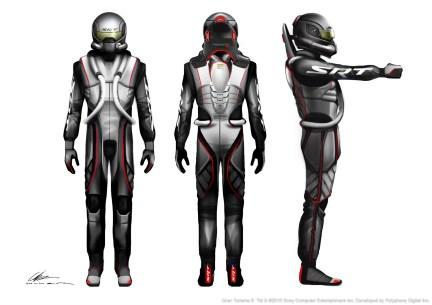 SRT Tomahawk Vision Gran Turismo Racing Suit Concept Sketch. (Dodge//SRT).