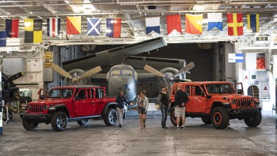 Photo of Jeep® Showcases Wrangler & Gladiator Aboard USS Hornet: