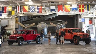 Photo of Jeep® Showcases Wrangler & Gladiator Aboard USS Hornet: