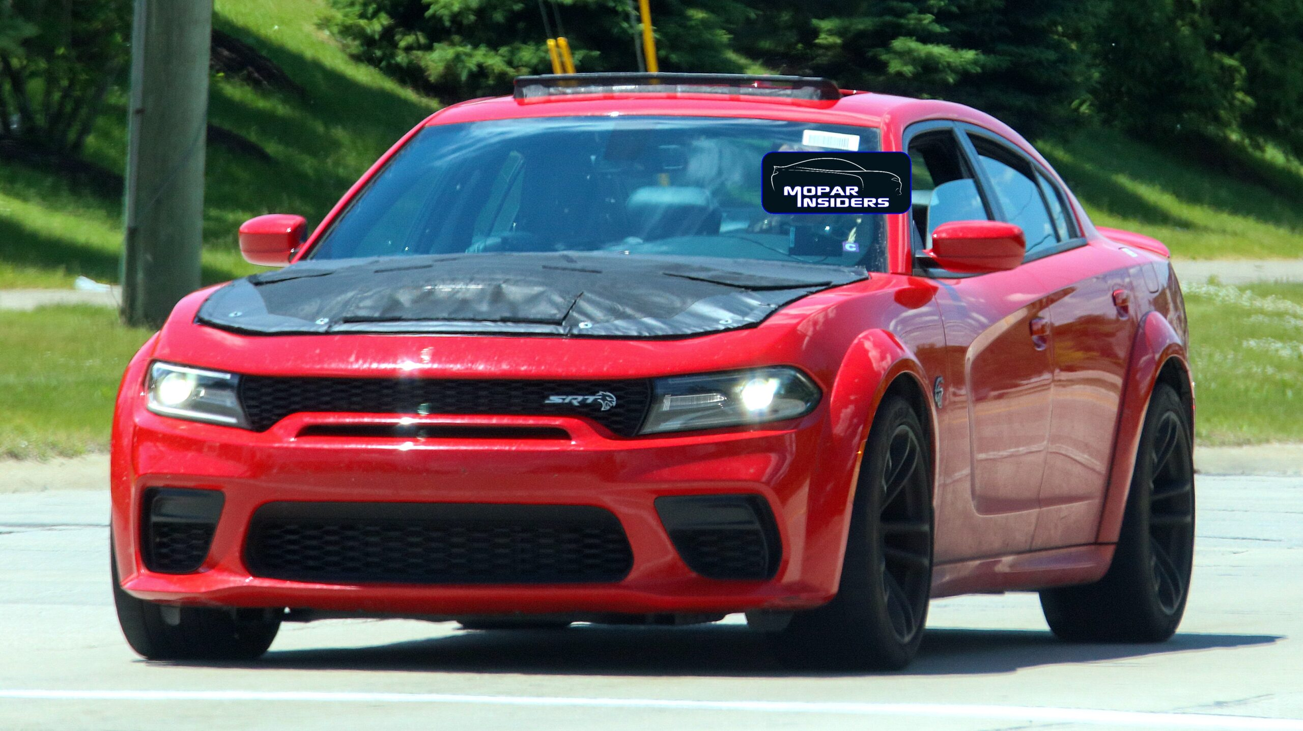 caught 2021 dodge charger srt hellcat widebody gets