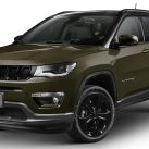 Brazilian-Spec 2021 Jeep® Compass Night Eagle in Recon Green. (Jeep).