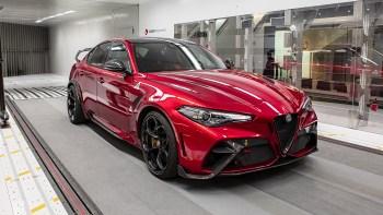 The 2021 Alfa Romeo Giulia GTAm Testing at the Sauber wind tunnel. (Alfa Romeo).