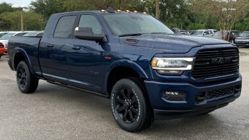 2020 Ram 2500 Laramie Night Edition Mega Cab 4x4 in Patriot Blue. (University Dodge).
