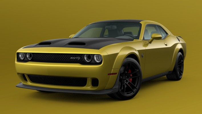 2021 Dodge Challenger SRT Hellcat Widebody in Gold Rush. (Dodge).