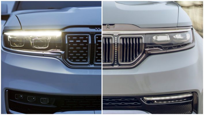 2022 Jeep® Grand Wagoneer vs Grand Wagoneer Concept. (MoparInsiders).