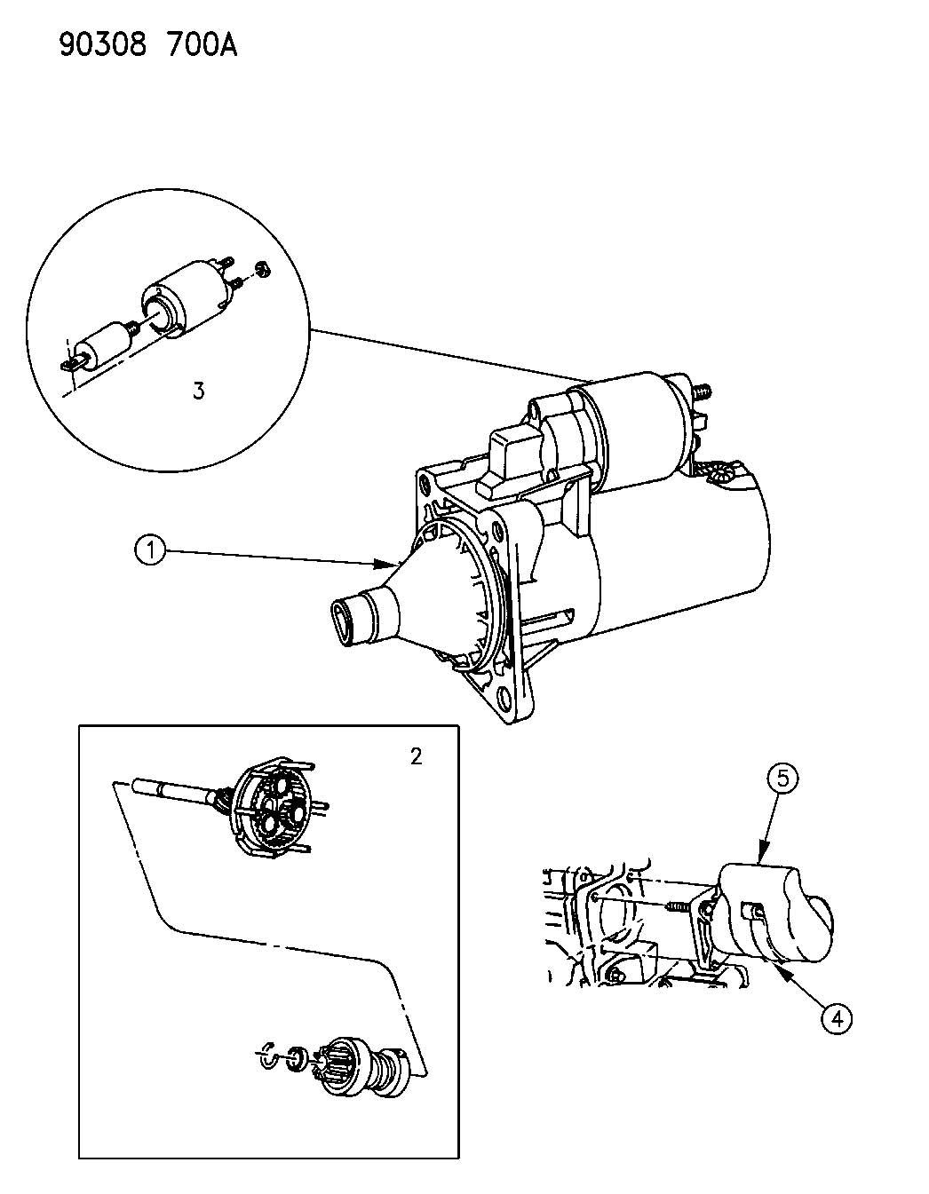 Dodge Dakota Starter Engine Starter Motor 4