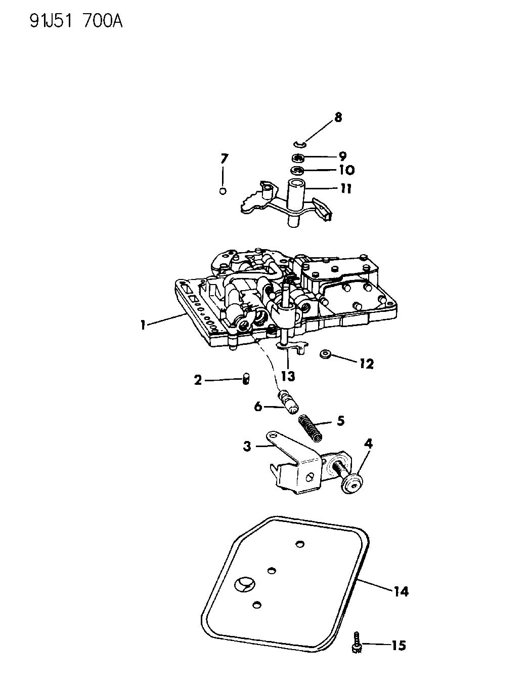 Jeep Wrangler Valve Body A999 93 32rh