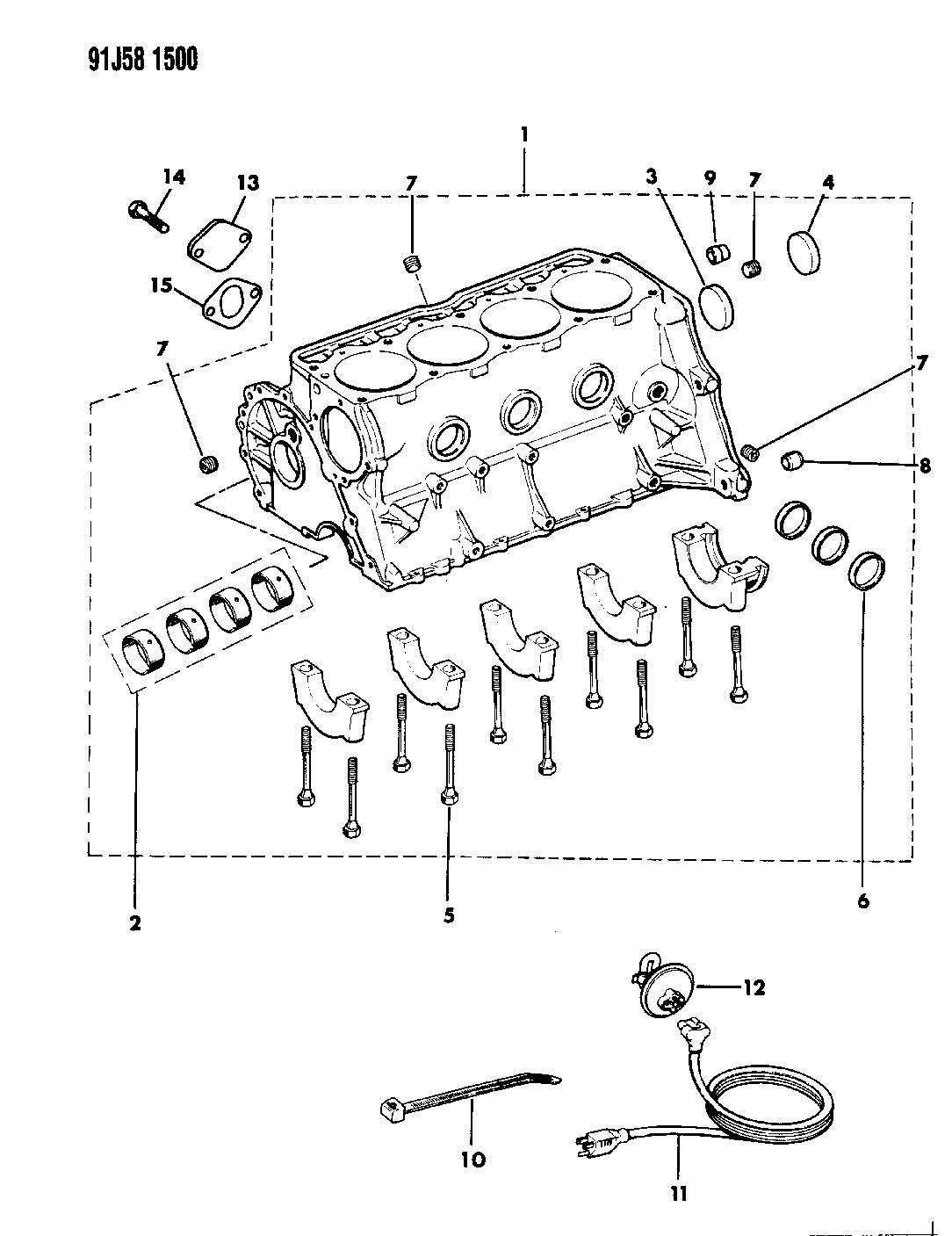 Jeep Wrangler Cylinder Block 2 5l Engine