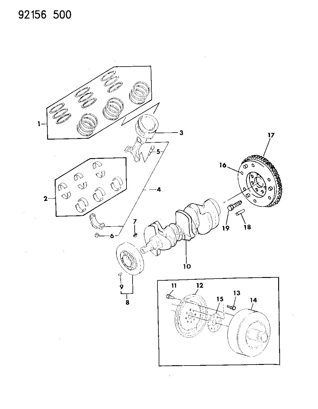 Plymouth Sundance Crankshaft Pistons And Torque