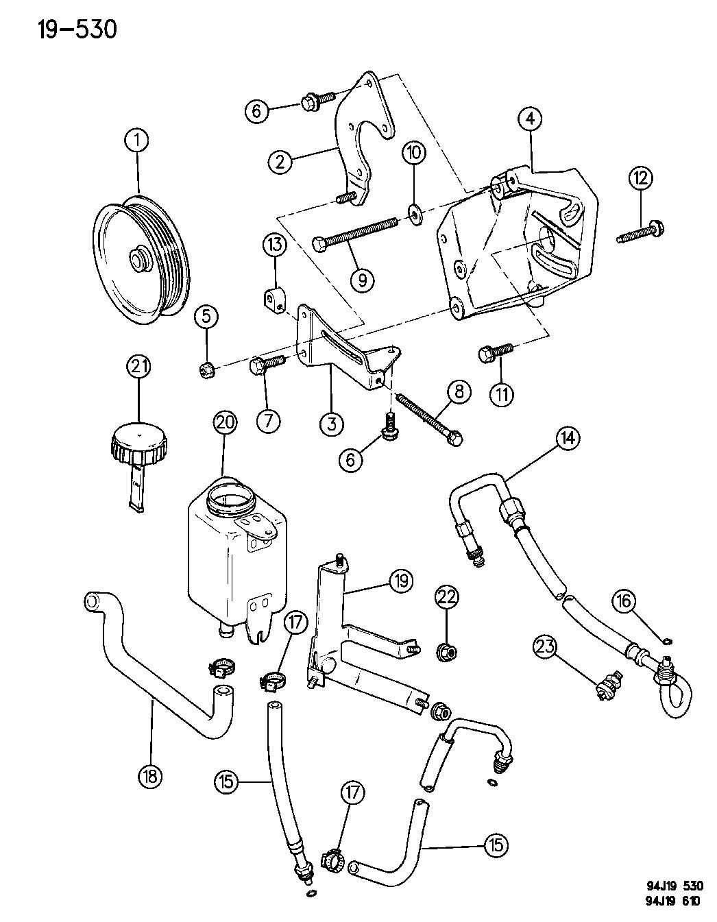 Jeep Grand Cherokee Pump Mounting Power Steering