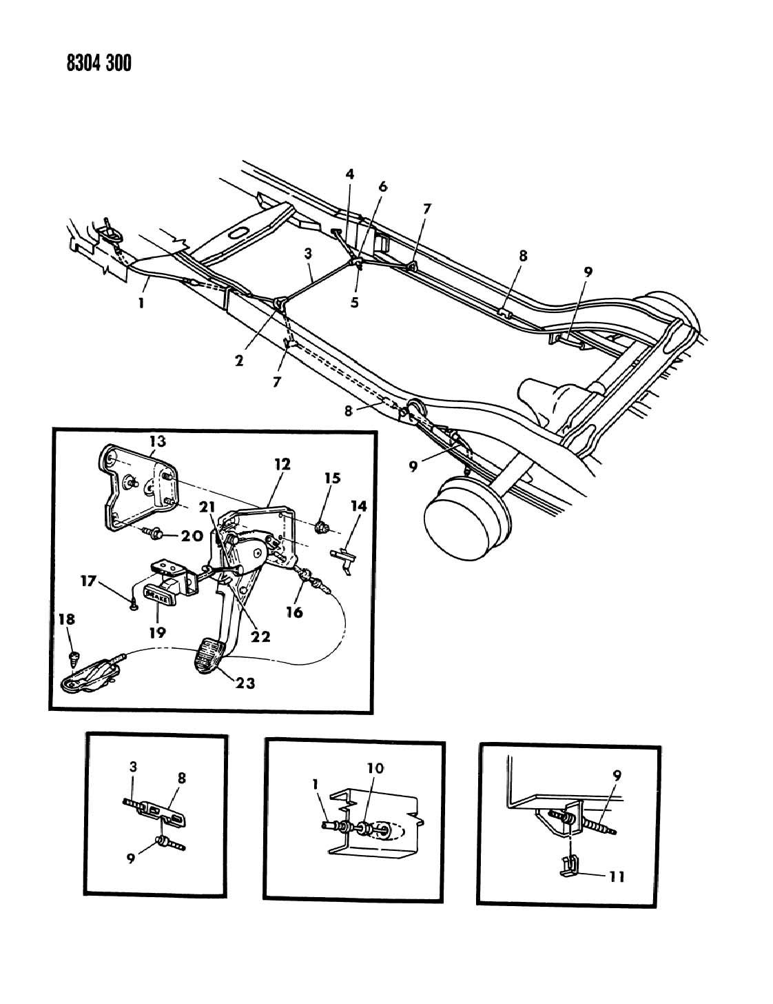 Dodge Dakota Lever And Cable Parking Brake N1 5 Model