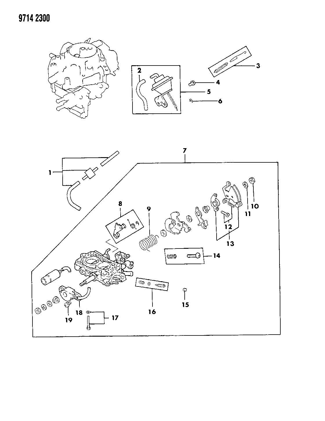 Dodge Raider Carburetor Throttle Body Parts