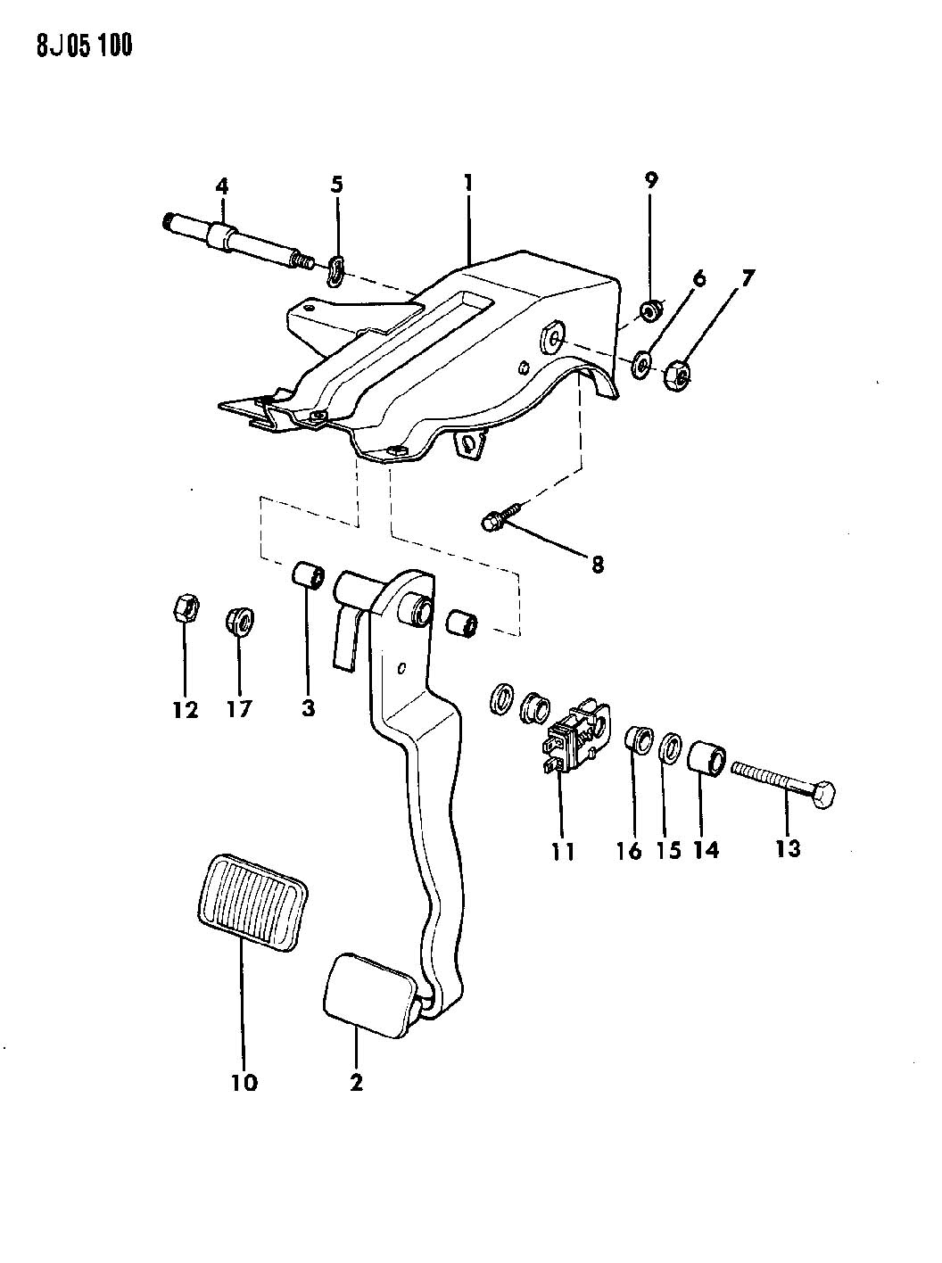 Jeep Wrangler Pedal Brake Wrangler Yj