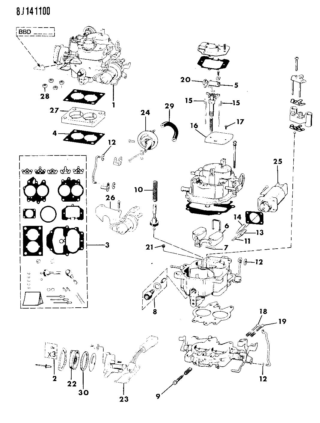 Carburetor And Component Parts 4 2l Engine Wrangler Yj