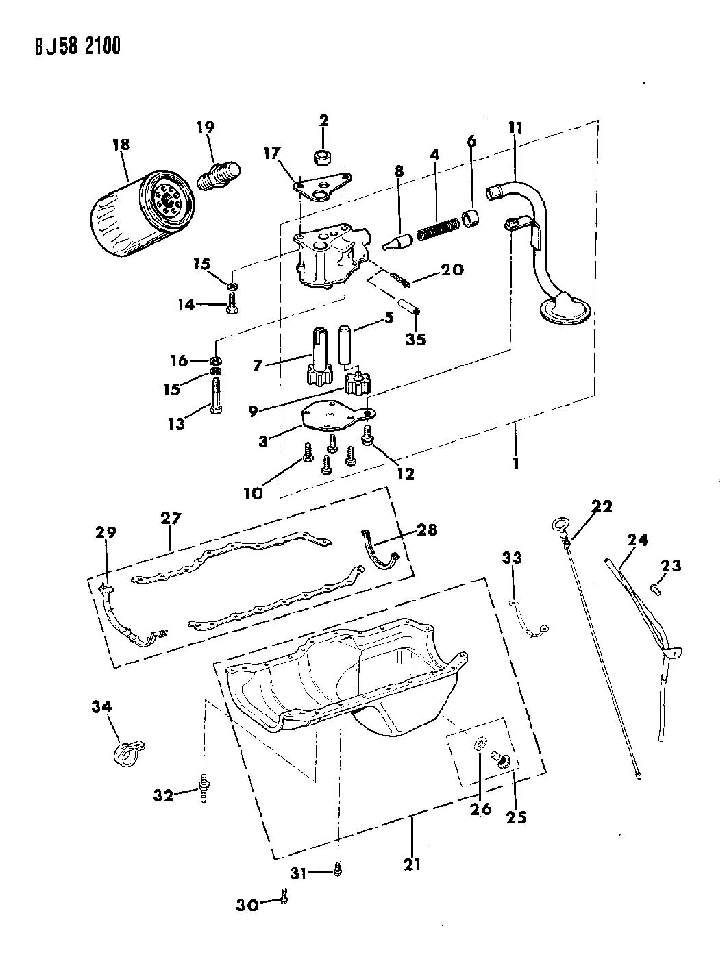 Jeep Wrangler Engine Oiling 2 5l Engine