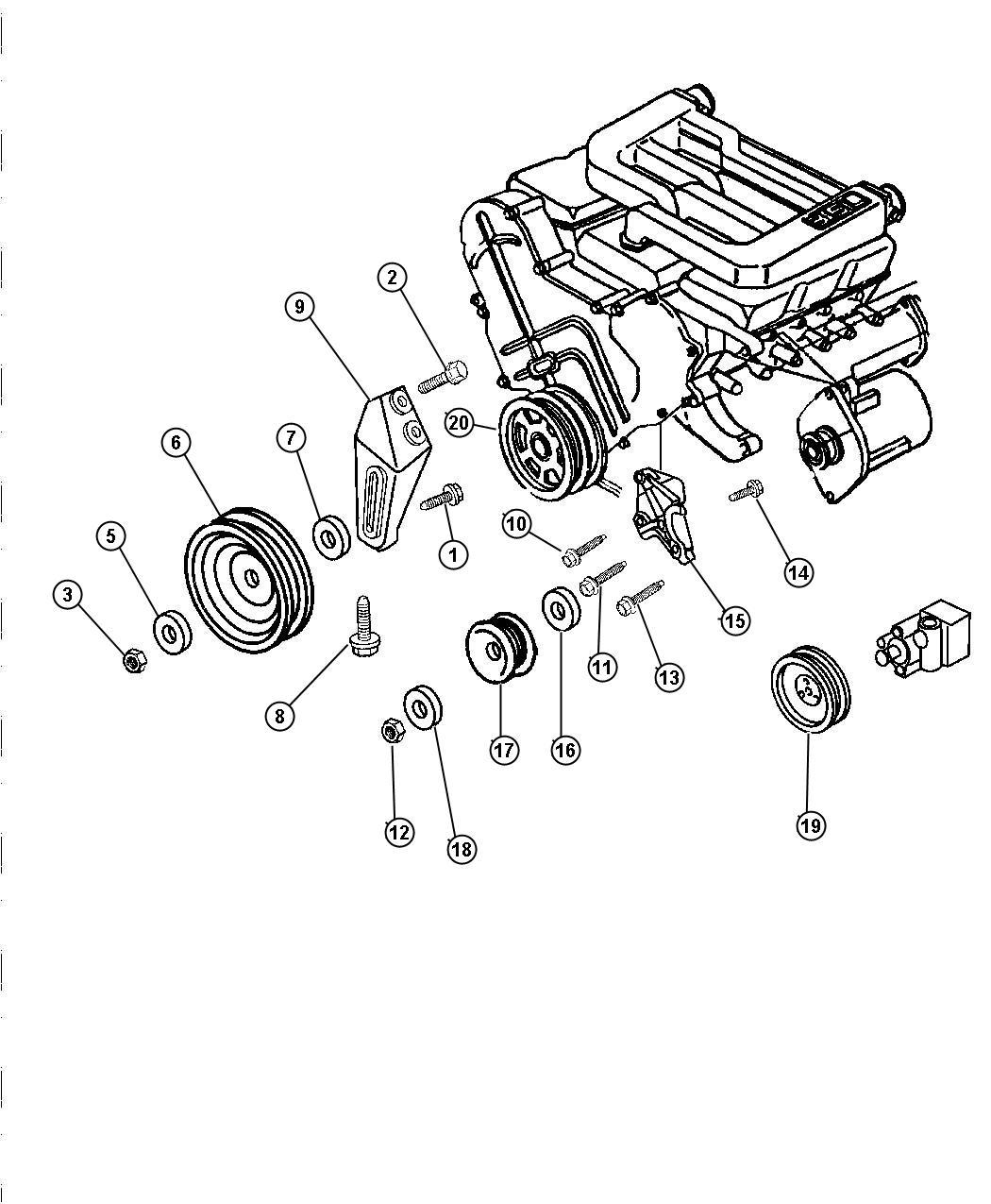Chrysler Lhs Drive Pulleys 3 5l Engine