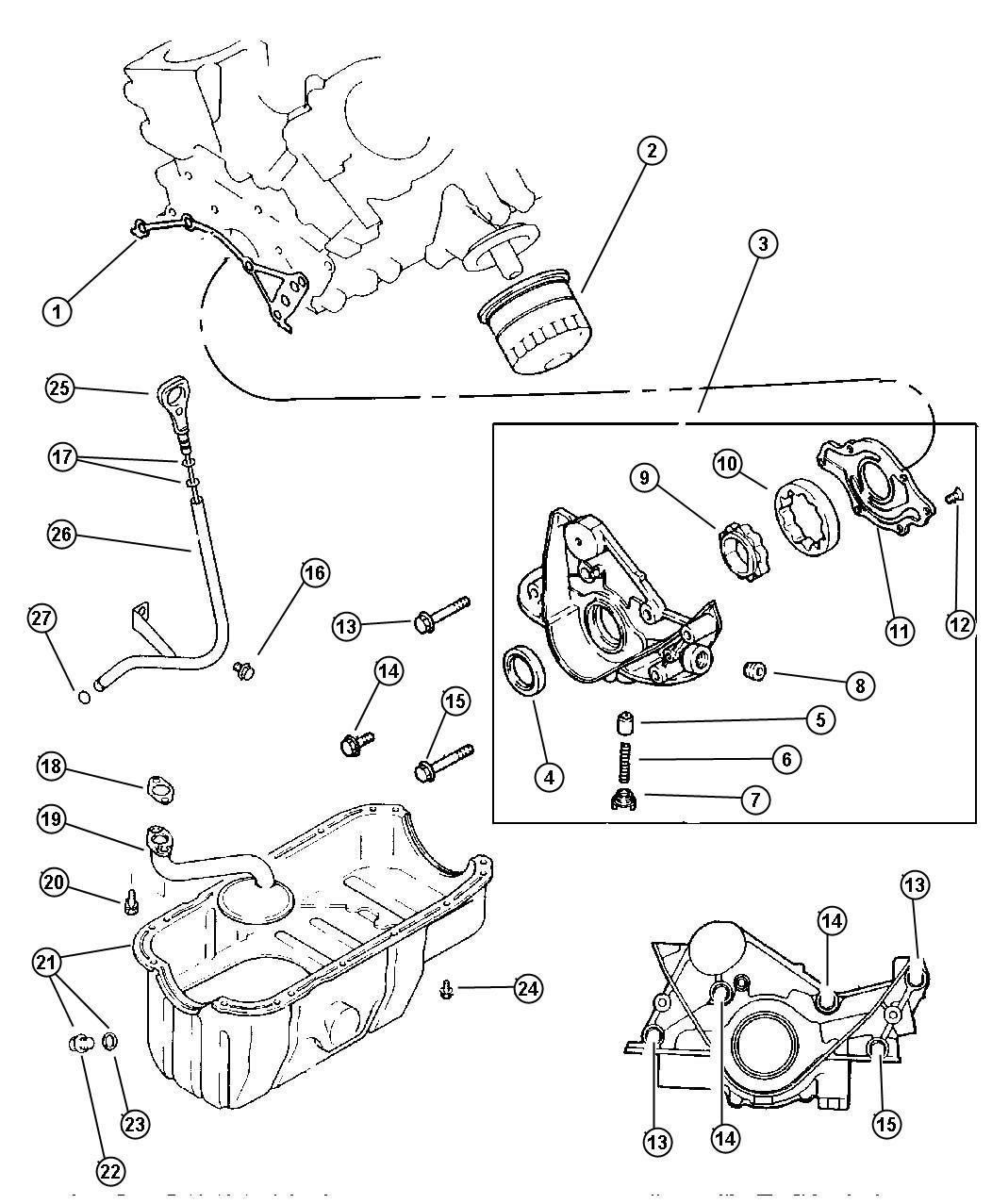 Dodge Caravan Engine Oiling 3 0l Efa Engine