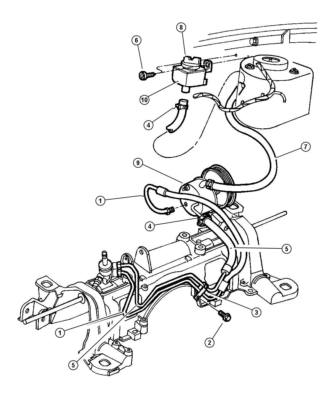 Dodge Grand Caravan Hoses Power Steering