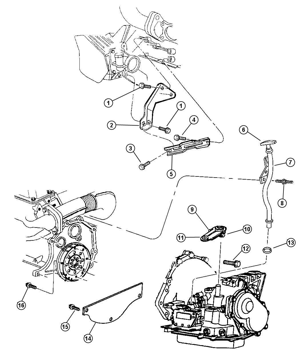Plymouth Grand Voyager Transaxle Mounting And Misc Parts