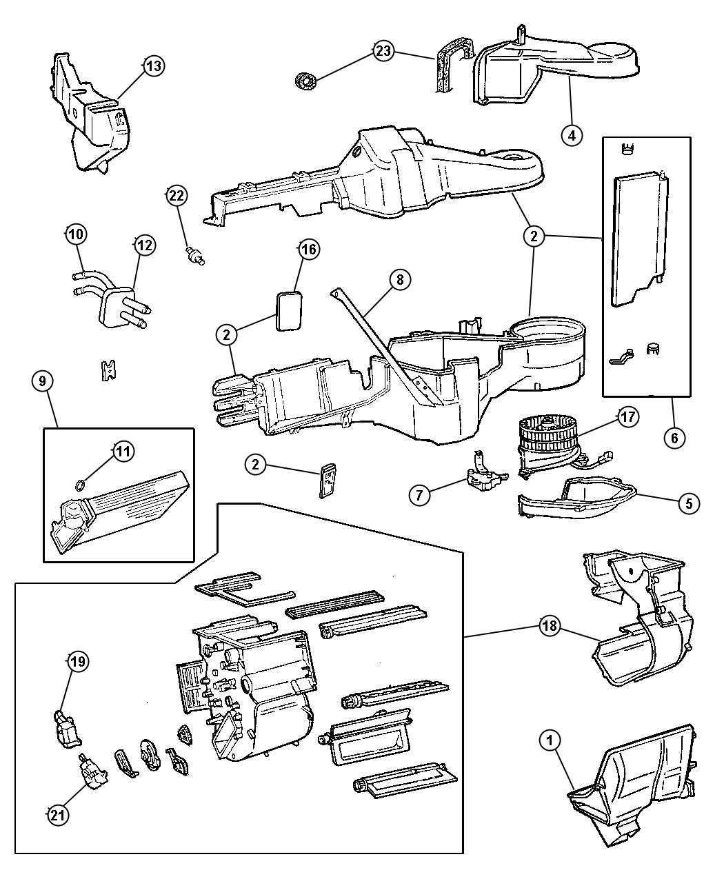 Plymouth Voyager Heater Unit