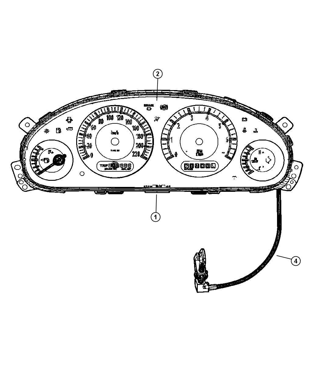 Cluster Instrument Panel
