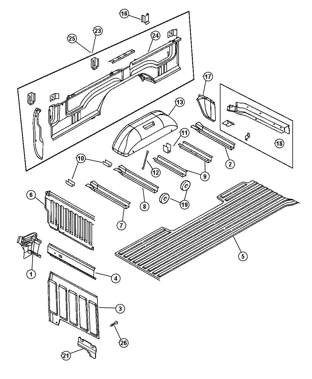 Dodge Ram Floor Box And Panel