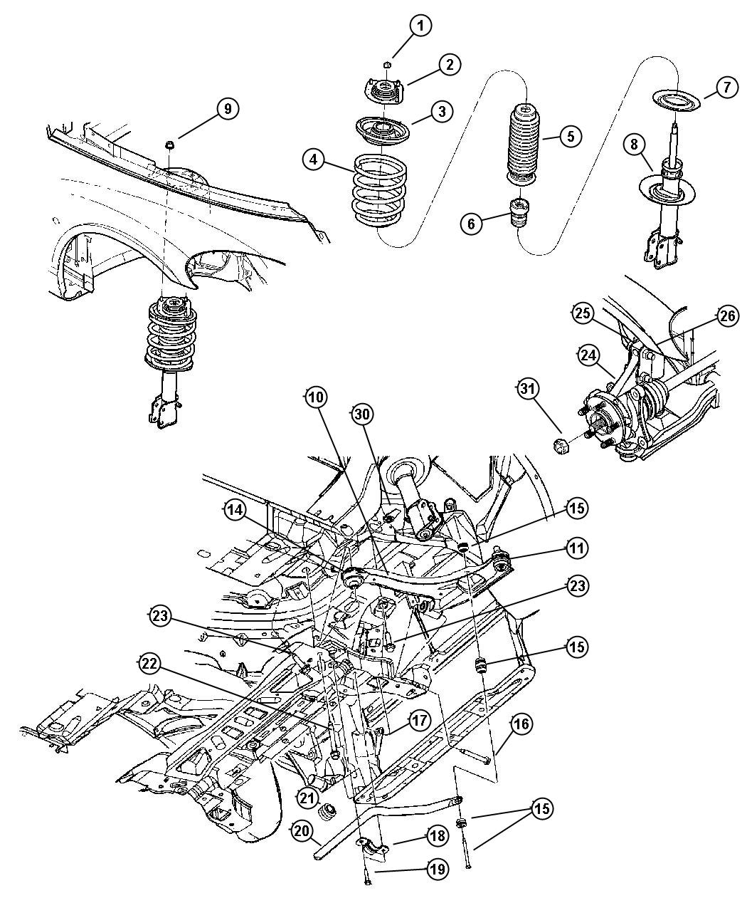 Pt Cruiser Engine Diagram Front End