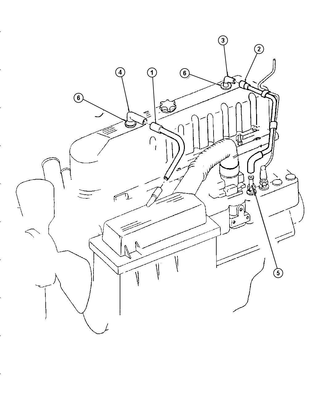 Jeep Wrangler Crankcase Ventilation 4 0 Erh