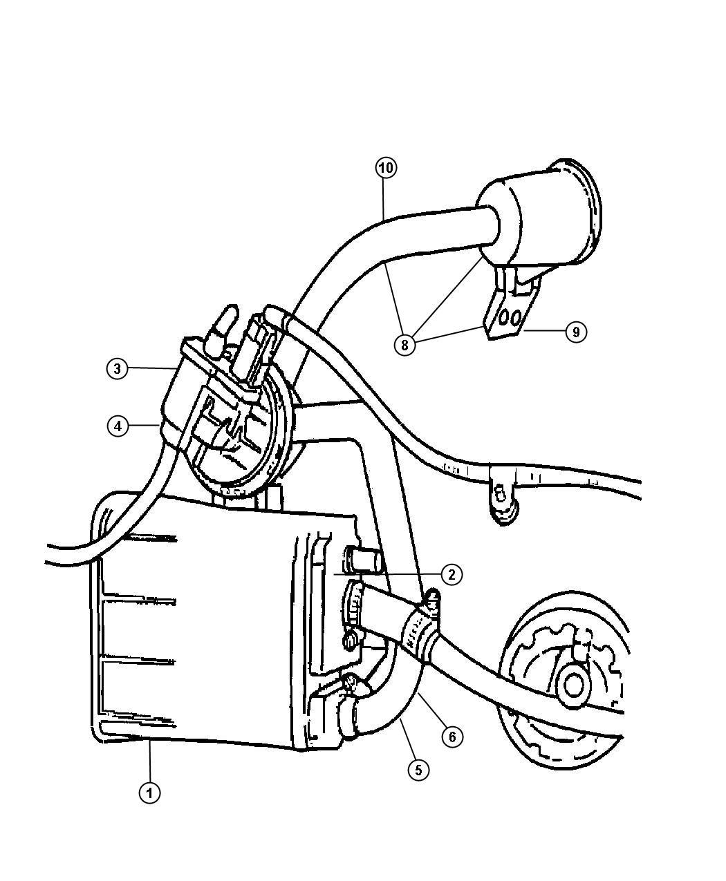Dodge Stratus Vacuum Canister And Leak Detection Pump